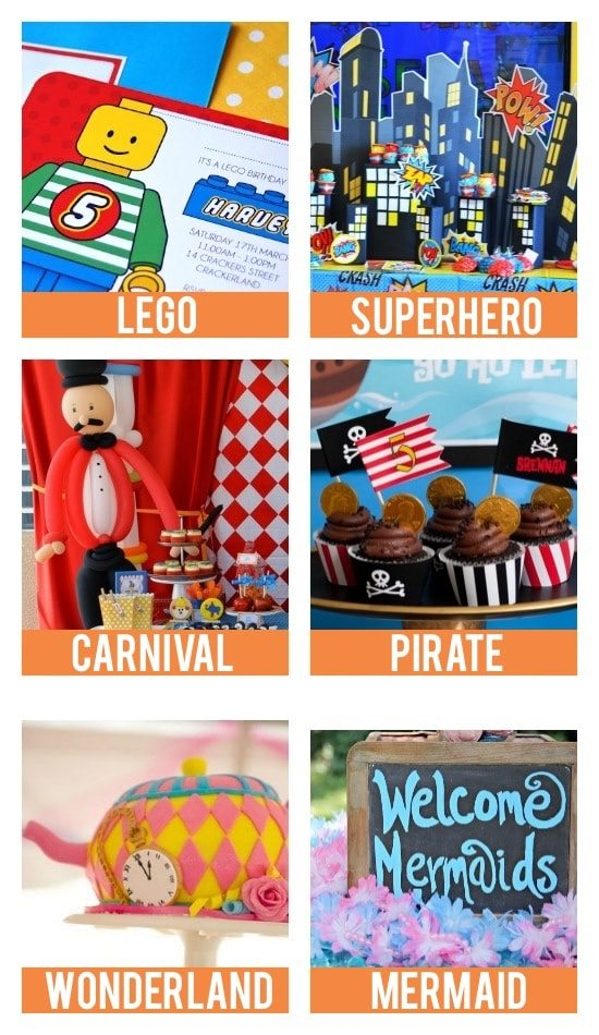 Kid Birthday Themes