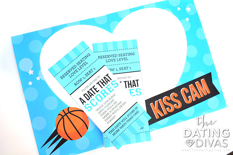 Kiss cam and tickets for this basketball themed date night.