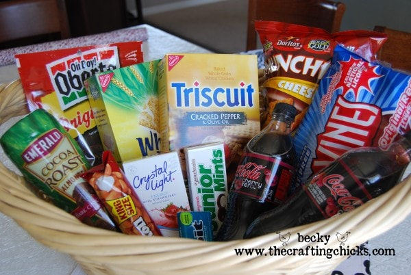 Baby Daddy gift basket with treats