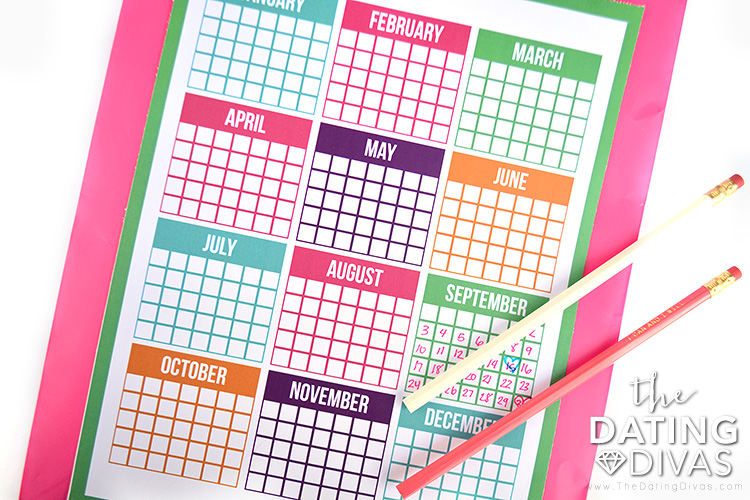 Plan your date nights with this Date Night Bag calendar.