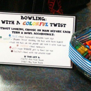Flashback Friday featuring a bowling date night idea with a twist!