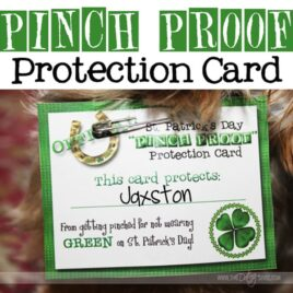 Pinch-Proof printable card for St. Patrick's Day