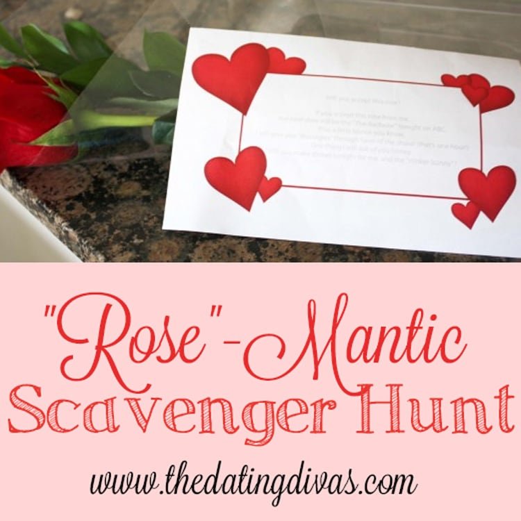 Quot Rose Quot Mantic Scavenger Hunt That Is Easy And Romantic