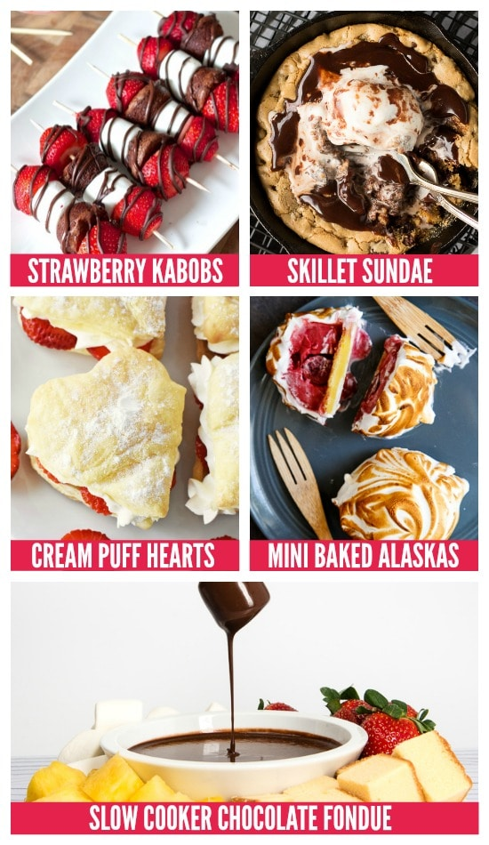 Dessert Anniversary Dinner Ideas