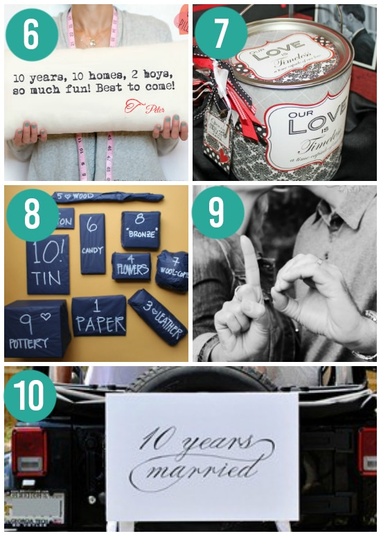 Creative 10th Anniversary Gift Ideas