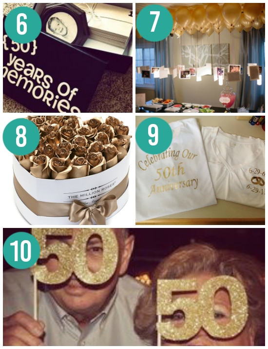 Creative 50th Anniversary Gift and Party Ideas