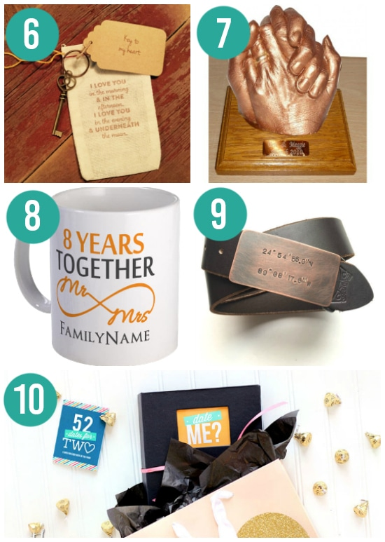 Creative 8th Year Wedding Anniversary Gifts