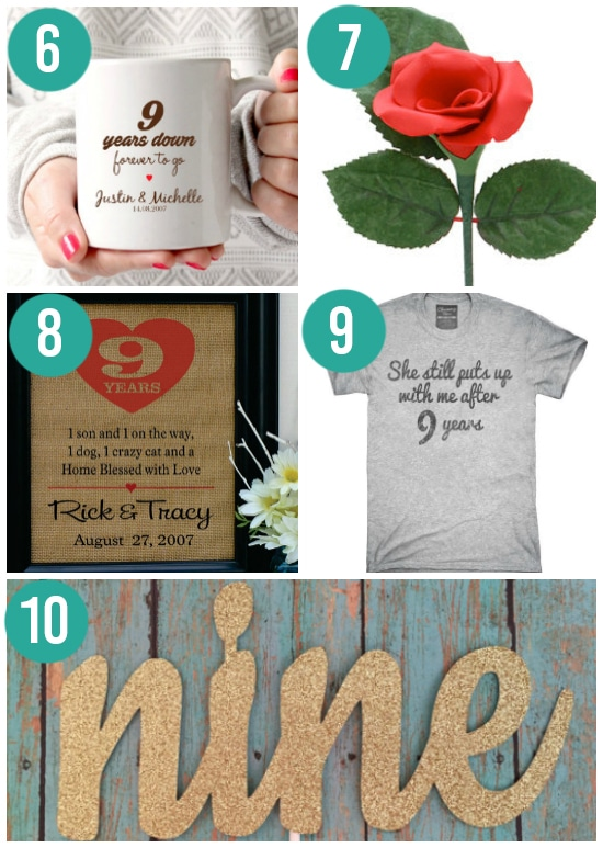 Creative Ninth Anniversary Gift Ideas