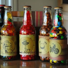 Father's Day soda pop candy gift idea.