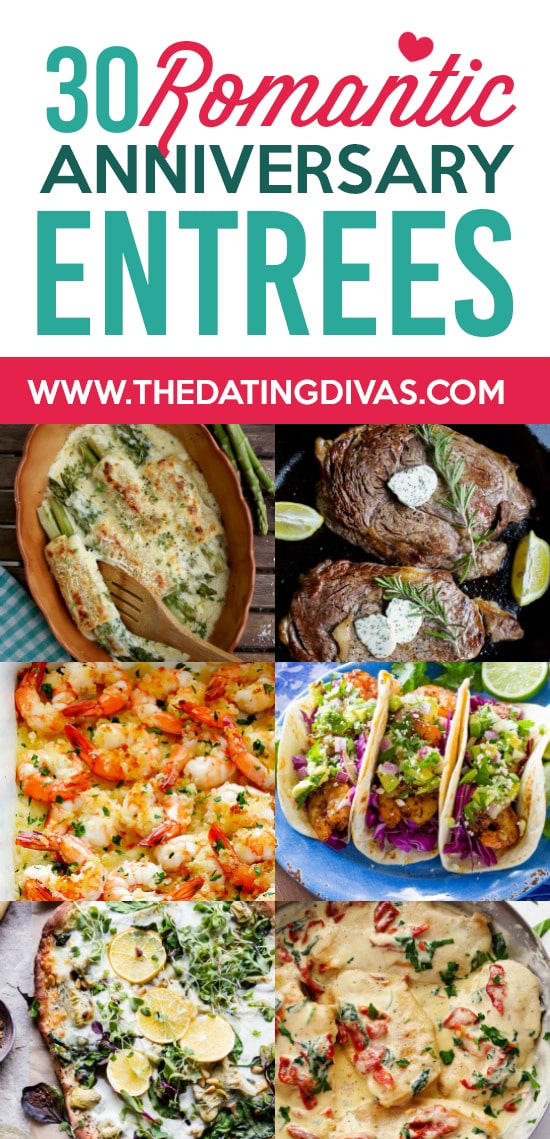 Romantic anniversary dinner ideas from the dating divas romantic anniversary dinner entrees forumfinder Images