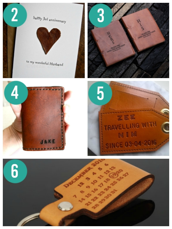Sweet Leather Anniversary Gift Ideas