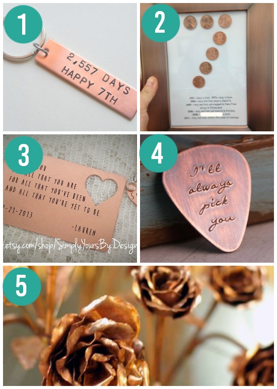 Traditional Copper Anniversary Gift Ideas