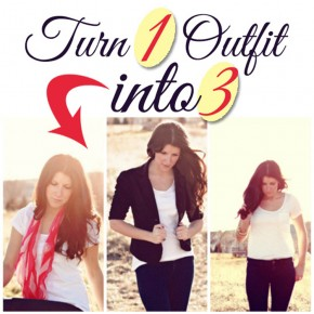 Turn one outfit into three with these fashion styles!