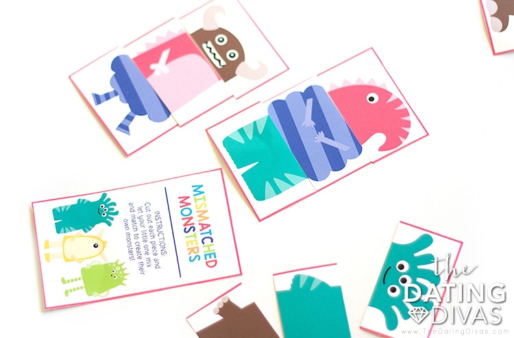 Cute monsters game included in The Kid Date Box