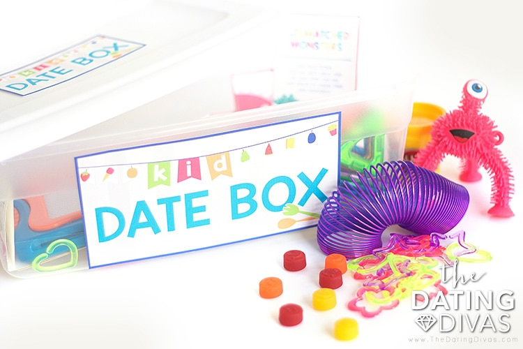 The Kid Date box has everything you need for a date night out--with the kids!