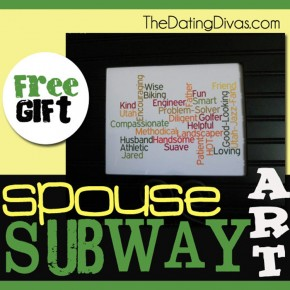 This spouse subway art is the perfect inexpensive and thoughtful gift idea!