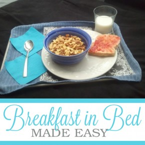 Breakfast in Bed, a romance idea.