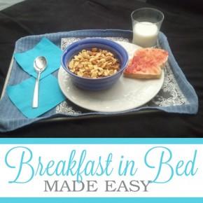 Breakfast in Bed, a romance idea.