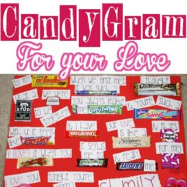 Candy bar candy gram for Valentine's Day