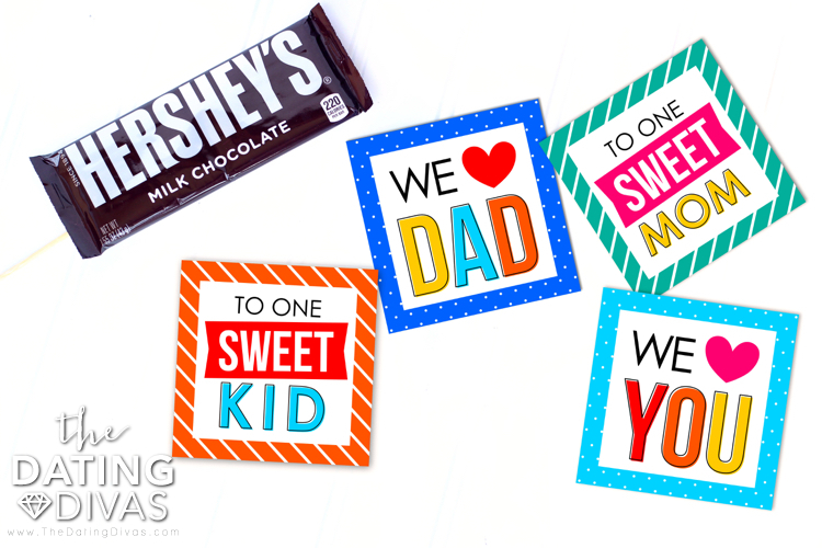 printable cards for Candy Bouquet with a hersheys bar