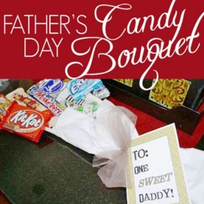 Father's Day candy bouquet tutorial