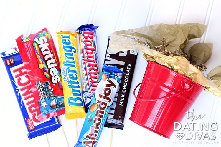 Father's Day Candy Bouquet Bucket
