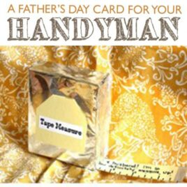 Father's Day card tutorial for the handyman.