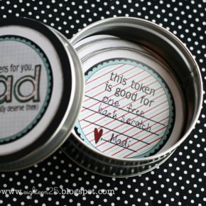 Father's Day Tin printable gift tutorial