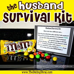 The Husband Survival Kit with a free printable included.