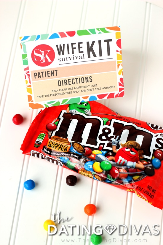 Wife Survival Kit with M&M's