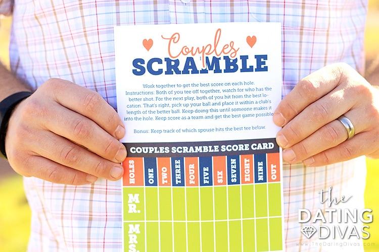 Golf Date Couples Scramble