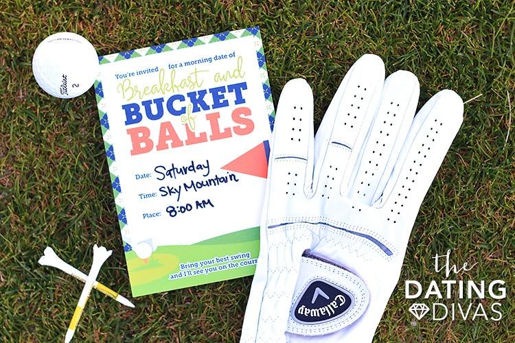 Golfing Date Invitation