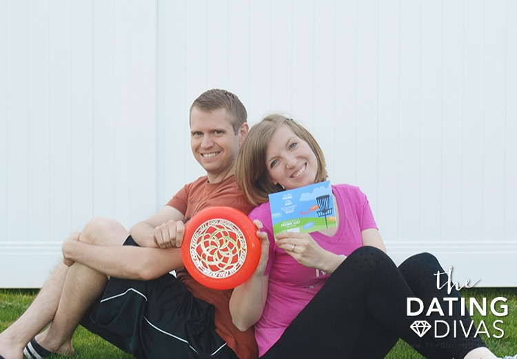 An interactive frisbee golf date for 2 or more!