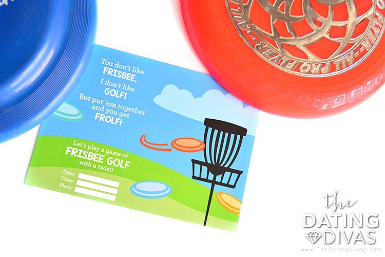Invitation to a frisbee golf date