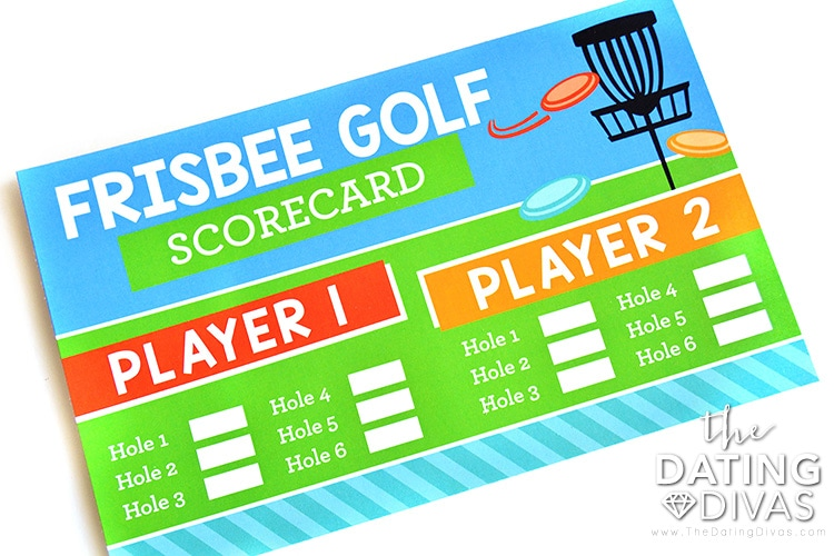 Frisbee golf date night score card