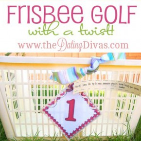 Frisbee Golf with a twist date night idea