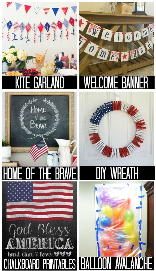 Military Homecoming Decorations