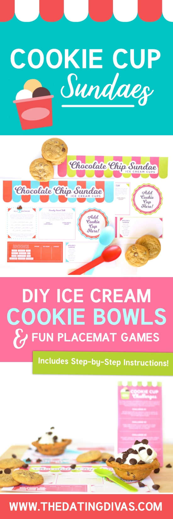 Ice Cream Cookie Cup Sundae Date Idea