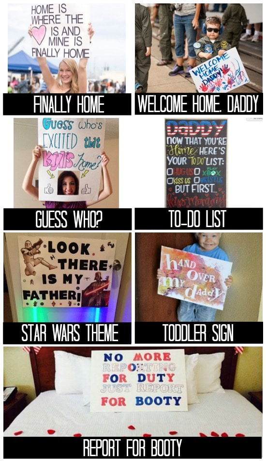 Sign Inspiration for Military Homecomings