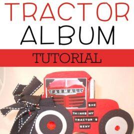 Tractor Album scrapbook tutorial.