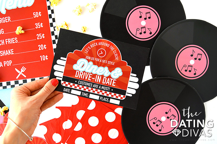 50's Diner Group Date Invite