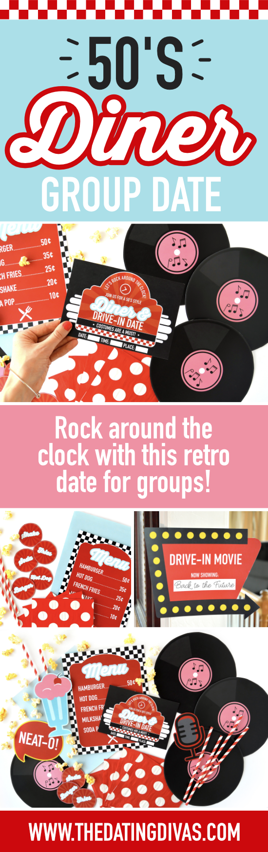 I LOVE all things 50's style! Can't wait to do these date night ideas! #thedatingdivas #50s #50stheme