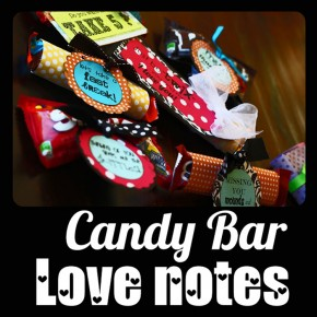 Candy bar love notes for your spouse!