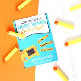 Nerf Wars Date Night Invite