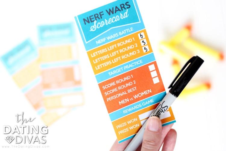 Nerf Wars Scorecard