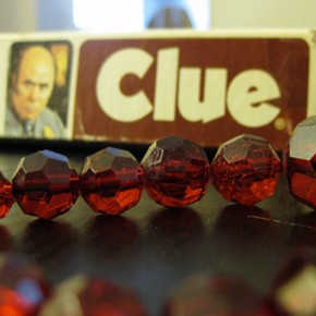 "The ""Clue"" game group date."