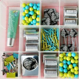 Box of goodies - a creative birthday gift idea.