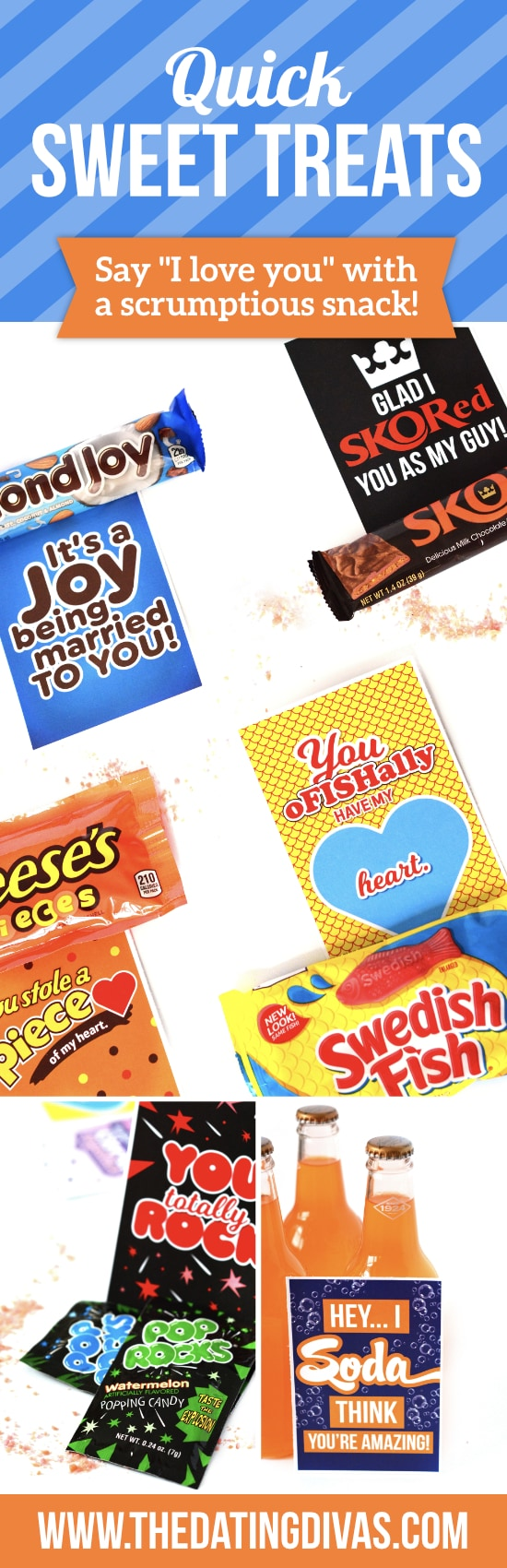 Love notes with a sweet treat.