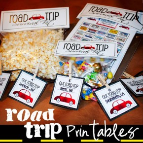 Road trip printable activities you can do in the car.
