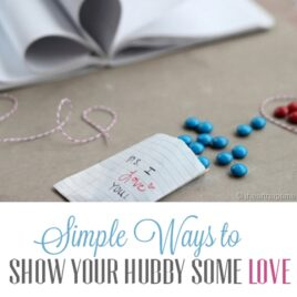 Simple ways to show your spouse love.